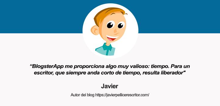 Entrevista a Javier Pellicer, autor de La Web de Javier Pellicer y usuario de BlogsterApp