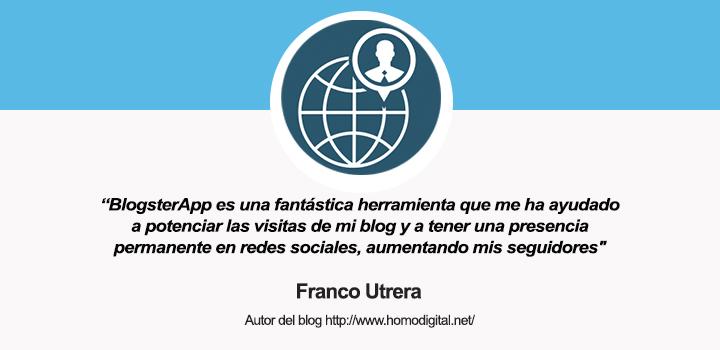 Entrevista al Franco, autor del blog Homo-Digital y usuario de BlogsterApp