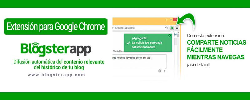 nueva extensión google chrome