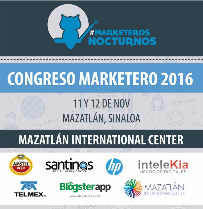 Patrocinadores oficiales de Marketeros Nocturnos 2016