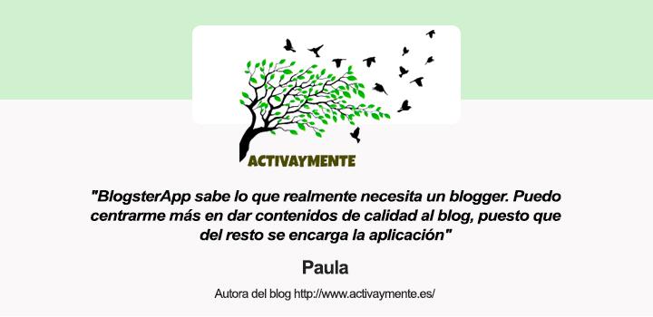 Entrevista a Paula, autora del blog ActivayMente