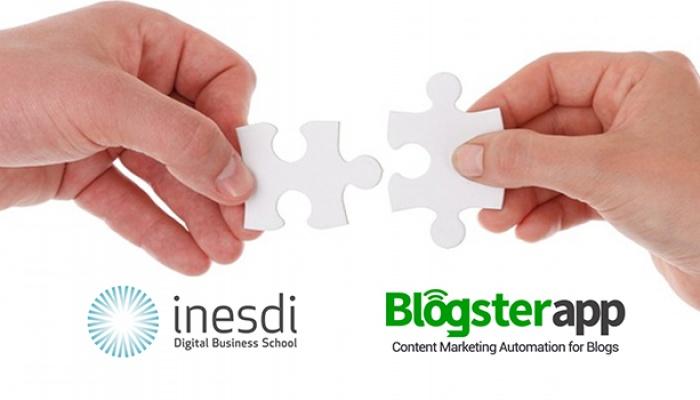 BlogsterApp acuerdo Inesdi