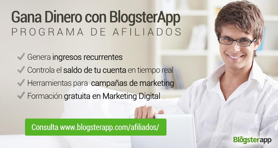 Programa de afiliados BlogsterApp
