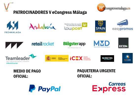Patrocinadores del V eCongress de Málaga