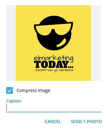 Comprimir imágenes de tu blog con TELEGRAM