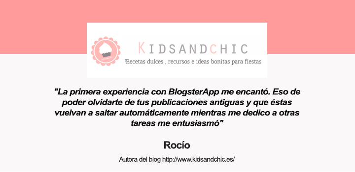 Rocio autora del blog Kids and Chic