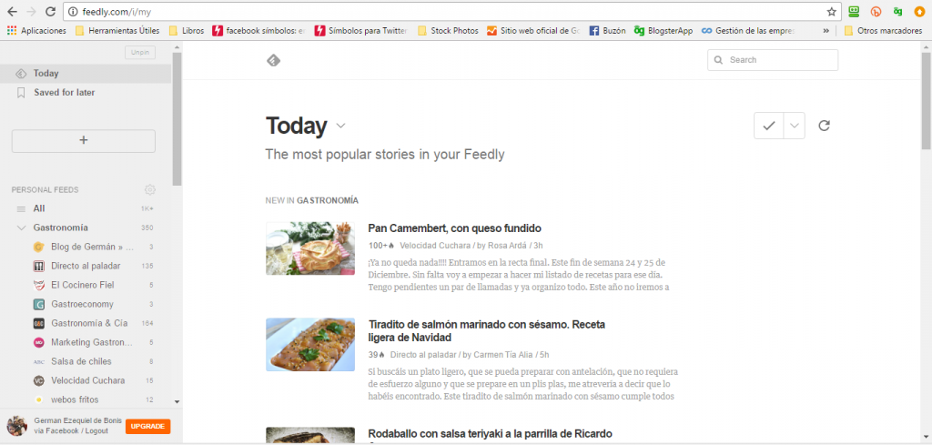 Feedly, our ally to write extensive posts