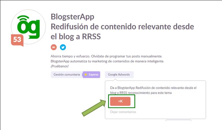 BlogsterApp, la herramienta para la difusión del contenido relevante de tu blog
