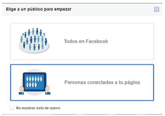 cómo elegir público en facebook