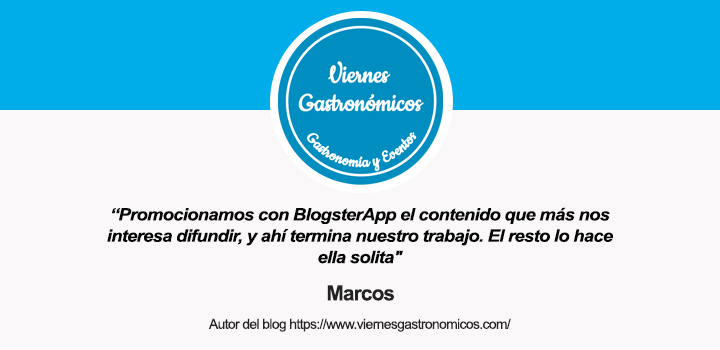 Entrevista al autor de Viernes Gastronómicos