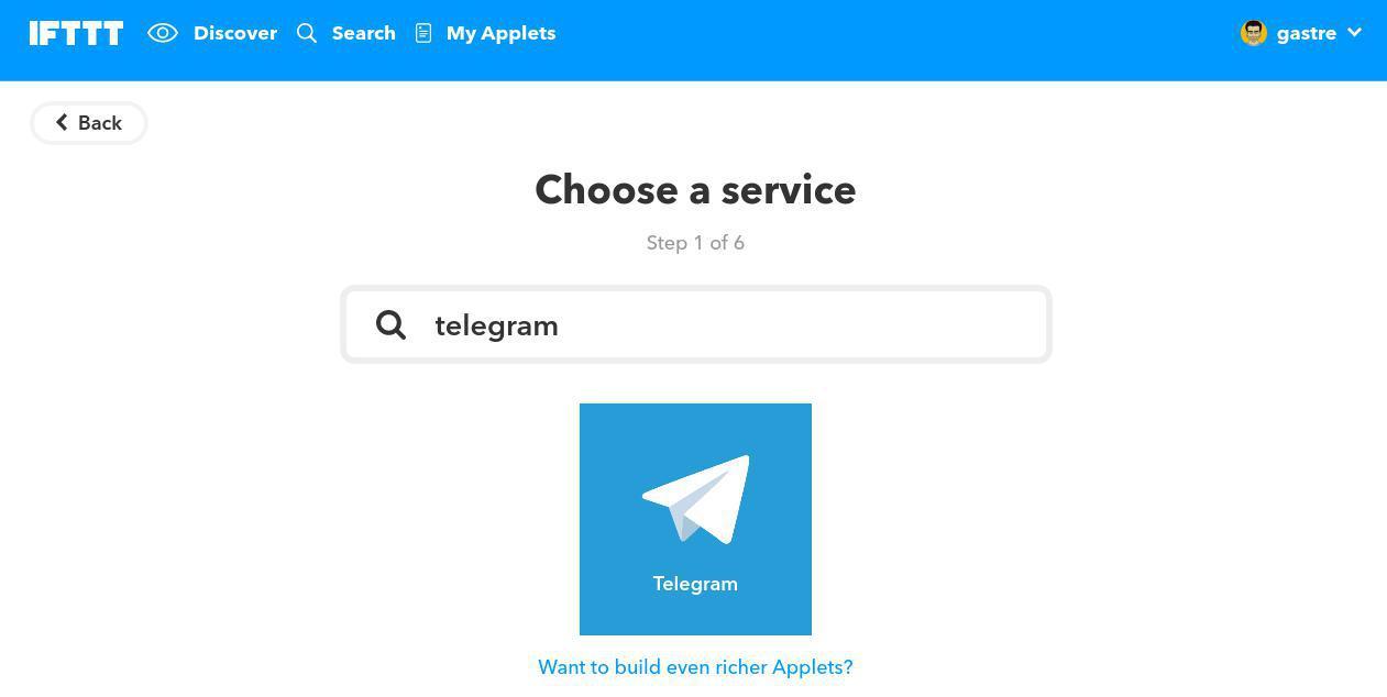 Configurar nuestro primer applet con IFTTT