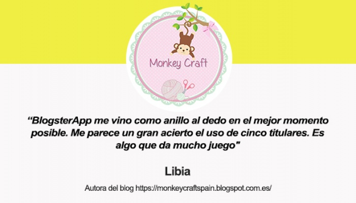 Entrevista a Libia, autora del blog Monkey Craft