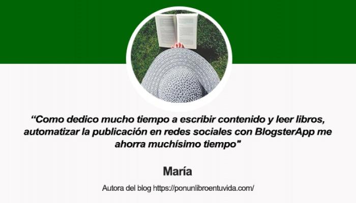 Entrevista a María, autora del blog Pon un libro en tu vida