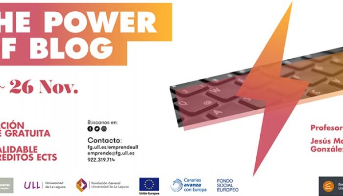 The Power of Blog, curso gratuito de la mano de BlogsterApp y EmprendeULL