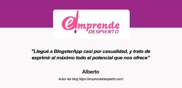 Entrevista a Alberto, autor del blog Emprende Despierto