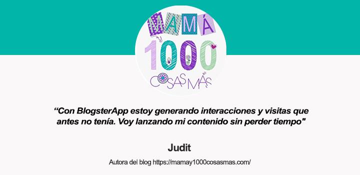 Entrevista a Judit, autora del blog Mamá y 1.000 cosas más