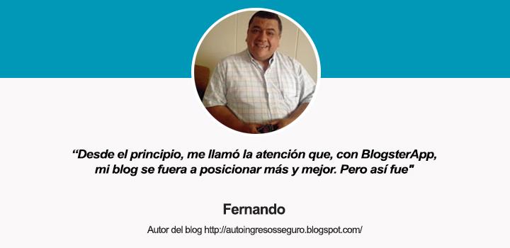 Entrevista a Fernando, autor del blog Auto Ingresos Seguro