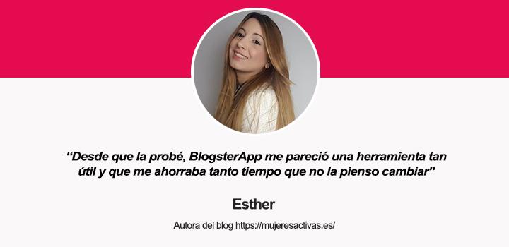 Hablamos con Esther Esteva, autora del blog Mujeres Activas