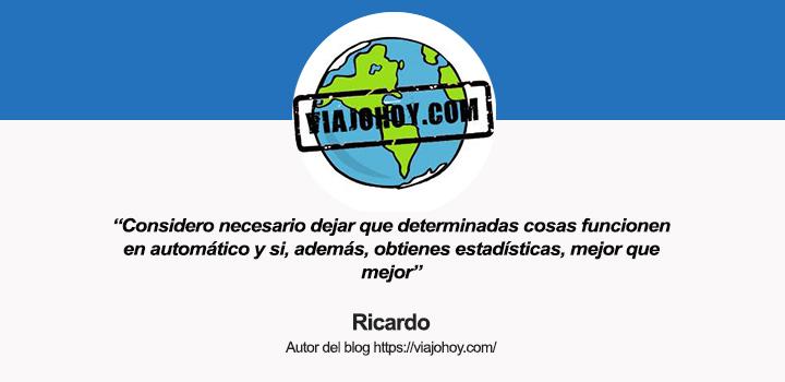 Hablamos con Ricardo, autor del blog Viajo Hoy