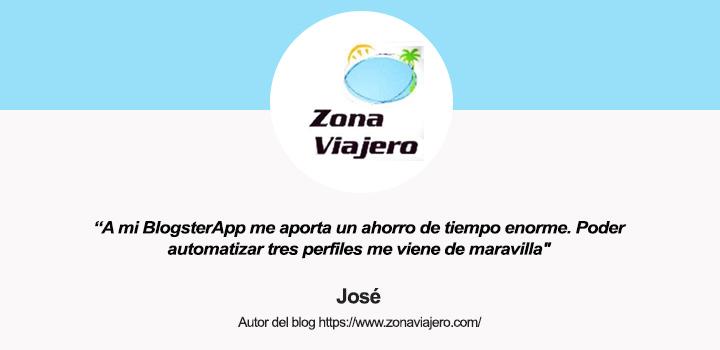 Entrevista a José, autor de blog Zona Viajero y usuario de BlogsterApp