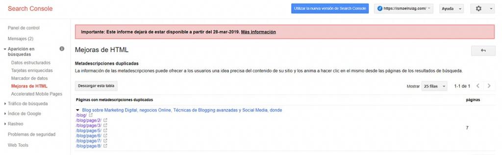 Utiliza Google Webmaster Tools para detectar contenido duplicado en tu web