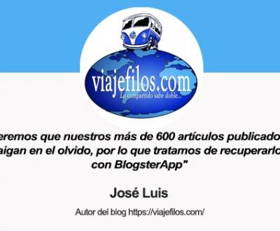 Entrevista a José Luis, autor del blog Viajéfilos y usuario de BlogsterApp