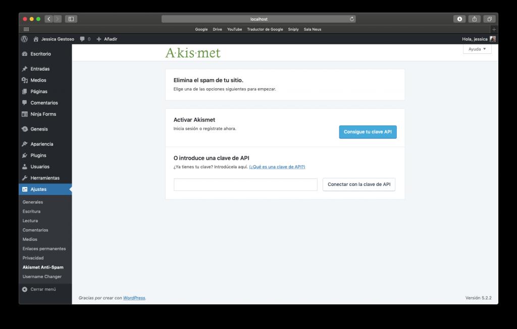 Configura akismet para evitar el spam en WordPress
