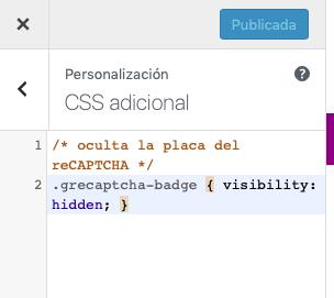 Cómo eliminar la insignia de reCAPTCHA de tu web con CSS