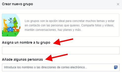Elige el nombre adecuado cuando crees tu grupo de Facebook